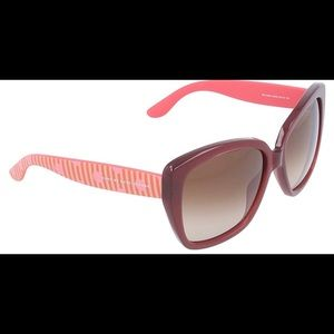 Marc Jacobs 358 Red/Striped Dotted Pink Sunglasses